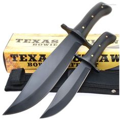 BK1955 Timber Wolf Texas Outlaw Bowie Knife Set & Sheath | MooseCreekGear.com | Outdoor Gear — Worldwide Delivery! | Pocket Knives - Fixed Blade Knives - Folding Knives - Survival Gear - Tactical Gear