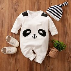 Baby Outfits Newborn, Toddler Outfits, Baby Boy Outfits, Kids Outfits, Baby Newborn, Cartoon Panda, Baby Cartoon, Panda 3d, Panda Bears