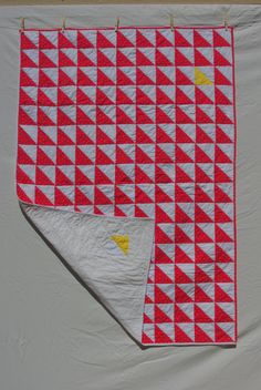 "Little modern quilt ""One Yellow One"" by sweetpeaquiltstore on Etsy."