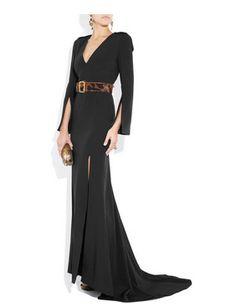 Alexander McQueen silk-crepe gown