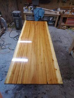 Finished Tiger oak slab.