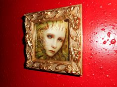 "Naoto Hattori ""Little Universe Within "" 3 x 3 inches (frame size 4.2 x 4.2 inches) Acrylic on board 2017"
