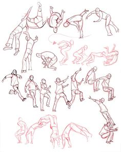 Fancy angles and quite correct movements? Lovely to see. Drawing parkour can be tricky sometimes. I mean, doing it irl is a little harder.