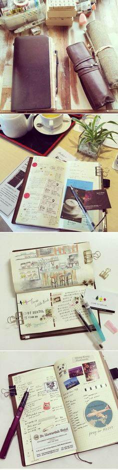 THE JOURNAL DIARIES- WEN YEA'S TRAVELER'S NOTEBOOK http://www.seaweedkisses.com/2014/11/the-journal-diaries-wenyeas-travelers.html
