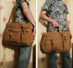 Men's daily leather bag!
