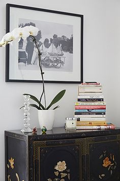 luxe living room essentials: white orchids are a must