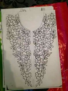 Awesome Most Popular Embroidery Patterns Ideas. Most Popular Embroidery Patterns Ideas. Embroidery Neck Designs, Floral Embroidery Patterns, Hand Embroidery Flowers, Hand Work Embroidery, Embroidery On Clothes, Learn Embroidery, Hand Embroidery Stitches, Embroidery For Beginners, Ribbon Embroidery