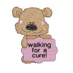 Breast Cancer Bear Set - 5x7 Custom Embroidery, Embroidery Thread, Machine Embroidery Designs, Cutwork, Tag Art, Word Art, Blackwork, Breast Cancer, Quilt Blocks