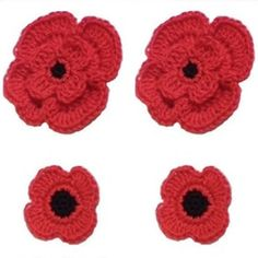 Remembrance Poppies Pattern | AllFreeCrochet.com