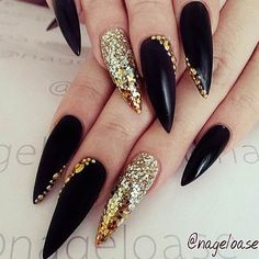 Black and Glitter Amazing Combination picture 2