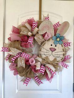Bunny Wreath Easter Wreath Easter Bunny Wreath Front Door