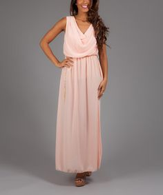 Another great find on #zulily! Salmon Madison Blouson Maxi Dress by Anabelle #zulilyfinds
