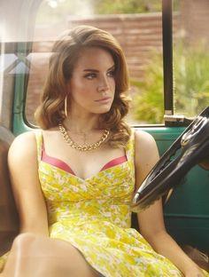 Love a yellow dress.  Love a peek-a-boo bra.