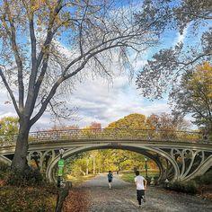 Photo - Central Park Bridge.  Taken on a beautiful warm day in November.  #centralpark #centralparknyc #manhatten #ny #nyc #newyorklife #newyorkstyle #newyorkcity #fall #autumn #fallinnewyork #love #bridge #park #runner #huaweimate9 #huawei #snapseed #picoftheday #photooftheday #instagramnyc