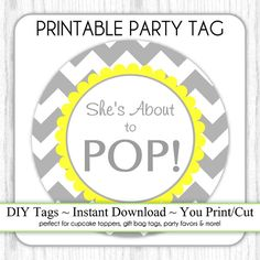 Instant Download  Gray and Yellow Chevron by DelightPrintables