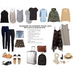 Summer in Europe packing list