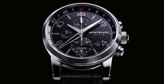 Montblanc TimeWalker ChronoVoyager UTC, ref.107336 - Self-winding, ca.MB25.03, 4Hz, 42hr p.r., chronograph, date, second 24hr hand - 43mm, steel case, black dial ~5k