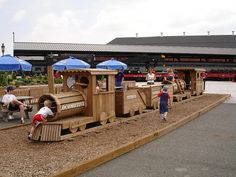 B & O Railroasd Museum with Wooden Train Playground for kids in Baltimore, Maryland by munidave, via Flickr