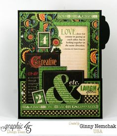 Page 1 of the Typography Mixed Media Planner by Ginny. Love these colors!  #graphic45