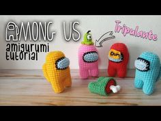 AMONG US amigurumi tutorial - tripulante👩‍🚀 - YouTube Crochet Animal Patterns, Stuffed Animal Patterns, Crochet Patterns Amigurumi, Crochet Animals, Crochet Toys, Knit Crochet, Crochet Crafts, Crotchet Patterns, Crochet Birds
