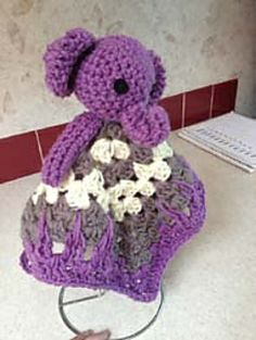 Free Crochet Pattern Elephant Lovey : 1000+ images about Crocheted Baby Cuddle Lovies on ...