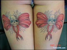 corset tattoos designs | Healed Corset Bow Tattoo\s On My Legs Tattoo