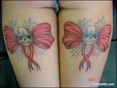 corset tattoos designs | Healed Corset Bow Tattoo\s On My Legs Tattoo