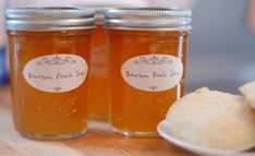 """""""Few things in life are better than biting into a fuzzy, sun-warmed peach, the nectar dribbling down your chin. This simple jam is full of ripe, fresh peach flavor with hints of bourbon, cinnamon, and vanilla"""" I love serious eats, they really sell it."""