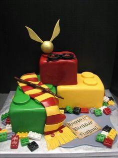 Harry Potter Lego theme fondant cake