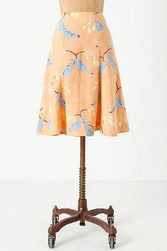 Multi-Panel Plume Skirt #anthropologie