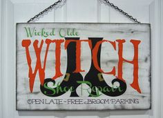 Burton Avenue: Witch Shoe Repair Halloween Sign how to