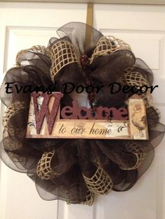 Year Around Country Deco Mesh Wreath by EvansDoorDecor on Etsy, $65.00