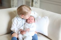 The Prince gives his little sister a kiss. Princess Charlotte christening: Princess Diana's niece named as godparent - Mirror Online