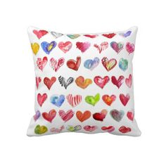 """Follow Your Heart Multicolor American MoJo Pillows. Throw Pillow 20"""" x 20""""."""
