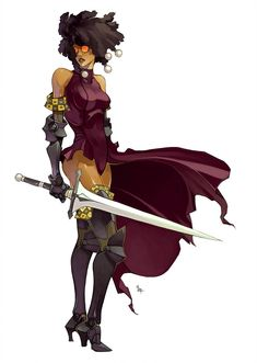 AfroFuturism I by on DeviantArt Female Character Design, Character Design Inspiration, Character Concept, Character Art, Concept Art, Skins Characters, Black Anime Characters, Fantasy Characters, Fictional Characters