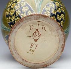 superb della robbia birkenhead art pottery twin handled floral vase c1895 - photo angle #8