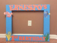 Finding nemo party picture frame