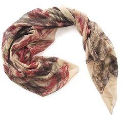 Arlette Ess Oversized silk georgette scarf – Minks
