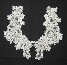 Beautiful Beaded Sequins & Embroidered Flower by VictorianWardrobe
