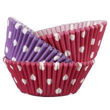 Celebrate It Standard Baking Cups, Pink/Purple Polka Dots