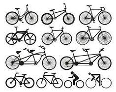 「自転車 線画 素材」の画像検索結果