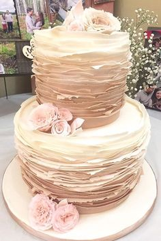 18 Simple Romantic Wedding Cakes ❤ 18 Simple Romantic Wedding Cakes ❤ These simple romantic wedding cakes are very stylish and has amazing floral decoration.  See more: http://www.weddingforward.com/simple-romantic-wedding-cakes/ #weddings #cake See more: http://www.weddingforward.com/simple-romantic-wedding-cakes/ #weddings #cake