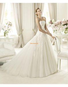 Hof-Schleppe trägerloser Ausschnitt Tülle Brautkleider 2014