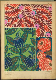 Floral Patterns / textile design drawings