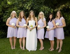 LBD bridesmaids in Iris Catherine bridesmaids dresses .. @bheter you can look at the styles on their website.. pretty basic but you return it after! :)