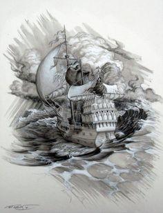 Ship Skull by Phil Roberts