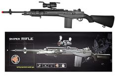 M160-B2 Spring Airsoft Sniper Rifle Scale 1:1 Bolt Metal Core 410 FPS + 1000BBs