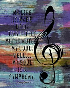 Tiny Music Notes Symphony Musical Quote Wall by BrandiFitzgerald