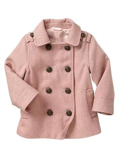 Baby Gap toddler Wool Peacoat #fall #winter styles.