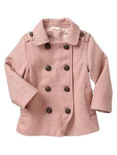 Baby Gap toddler Wool Peacoat #fall #winter styles.